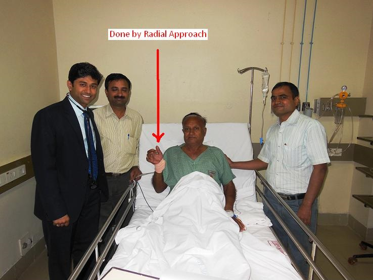 Dr.Rahul Patil - Top cardiologist with patient post radial approach treatment