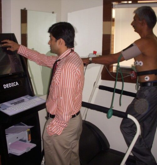 TMT Stress Test Procedure under observation of dr. rahul patil